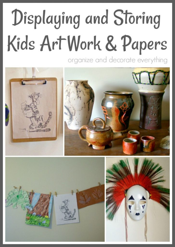 Displaying and Storing Kids Artwork and School Papers