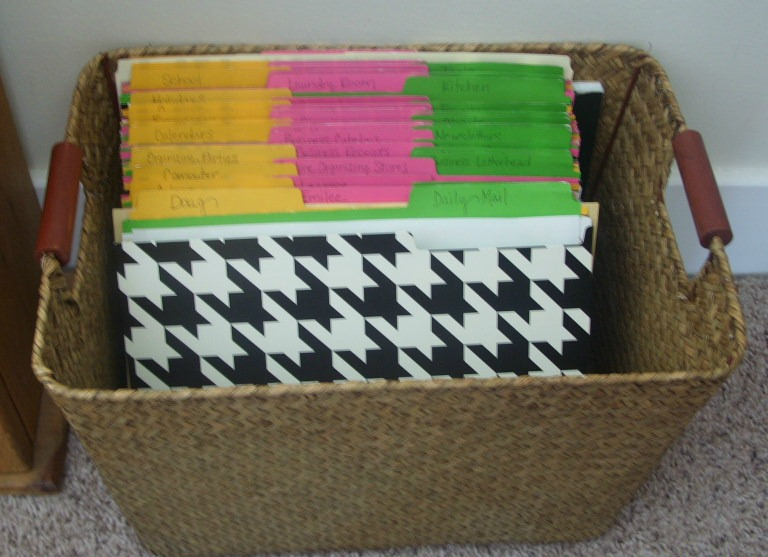 File Folder Basket