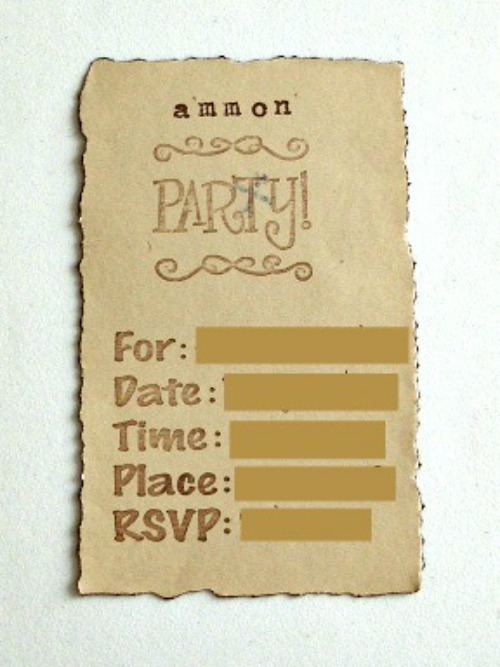 Pirate Party Invitations back