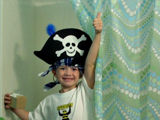 Pirate birthday party treasure hunt