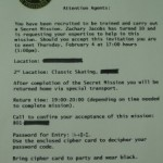 Spy Birthday Party Invitations