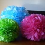 Paper Pom Flowers