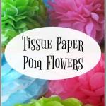 Tissue Paper Pom Flowers
