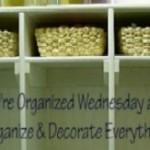 We're Organized Wednesday