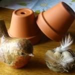 Bird on Pot Pedestal