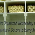 We're Organized Wednesday #5 and Guest Post with Joy from Just Organize Yourself