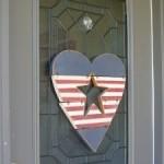 Flag Door Decor