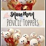 Snowman Pencil Toppers
