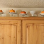 Decorating the Cabinets for Thanksgiving