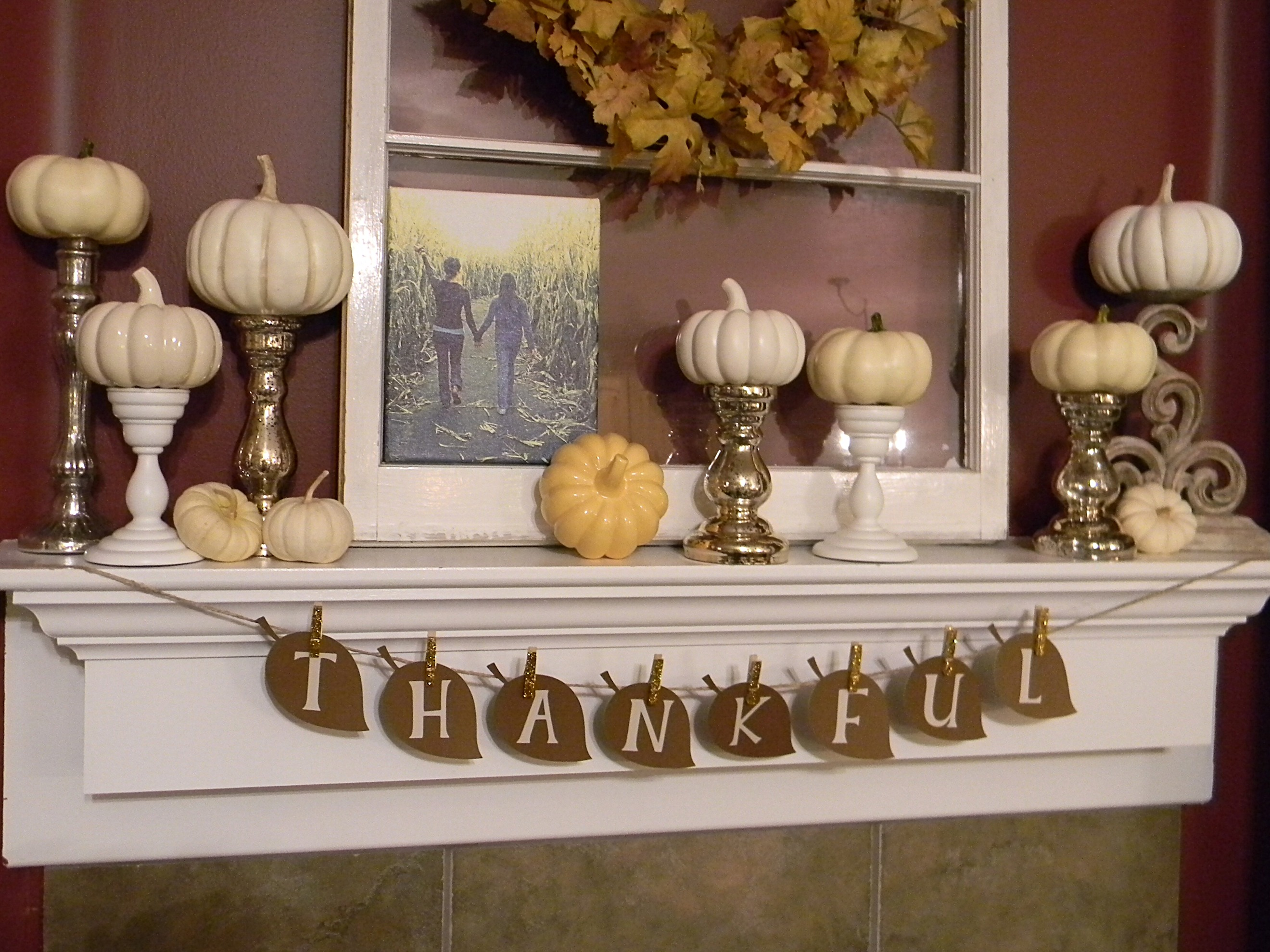 Thankful banner organize and decorate everything Thanksgiving table decorations homemade