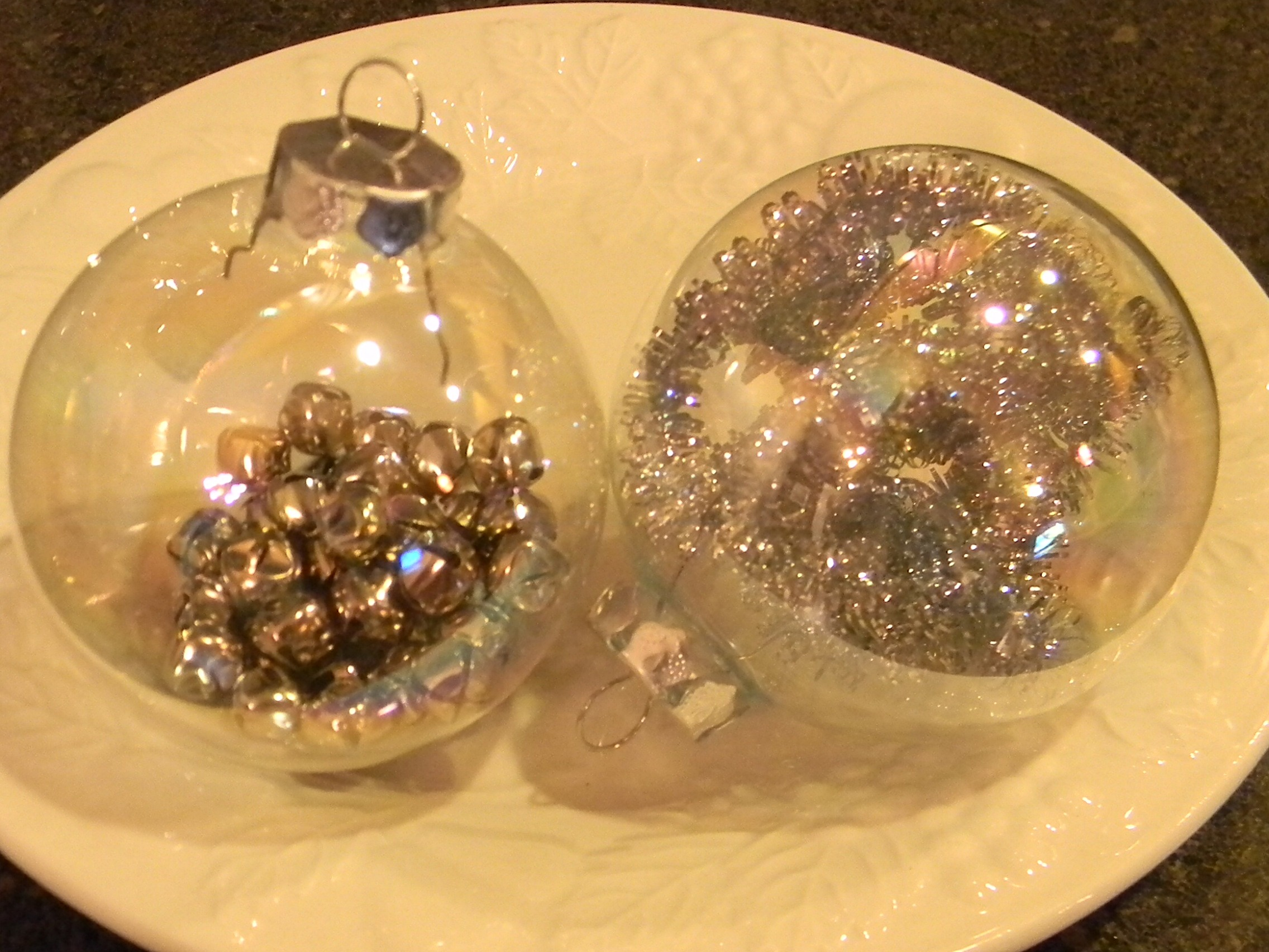 Glass globe ornaments - I Love Painted Glass Ornaments