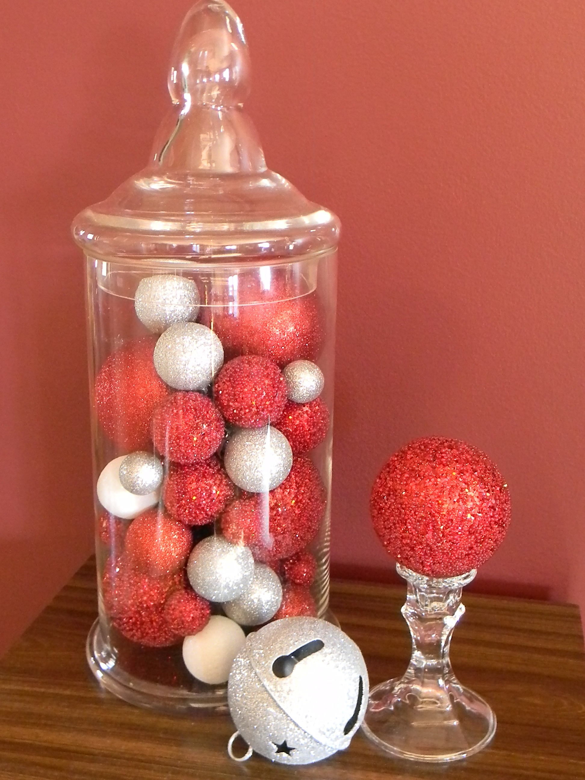 Christmas home tour organize and decorate everything for Christmas glass jar decorations