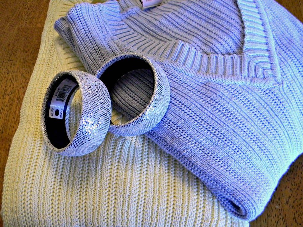 sweater bracelet supplies
