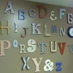 Maddux's Alphabet Wall