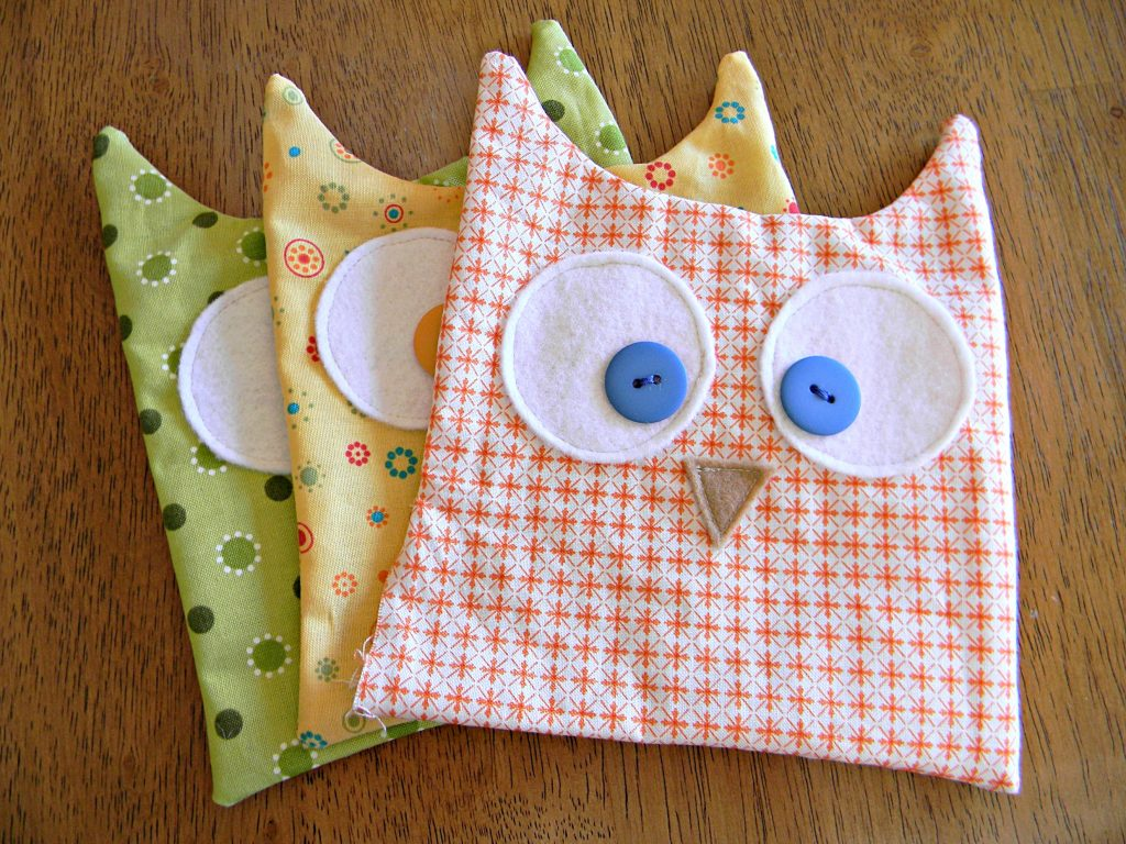 Owl Softies bodies sewn