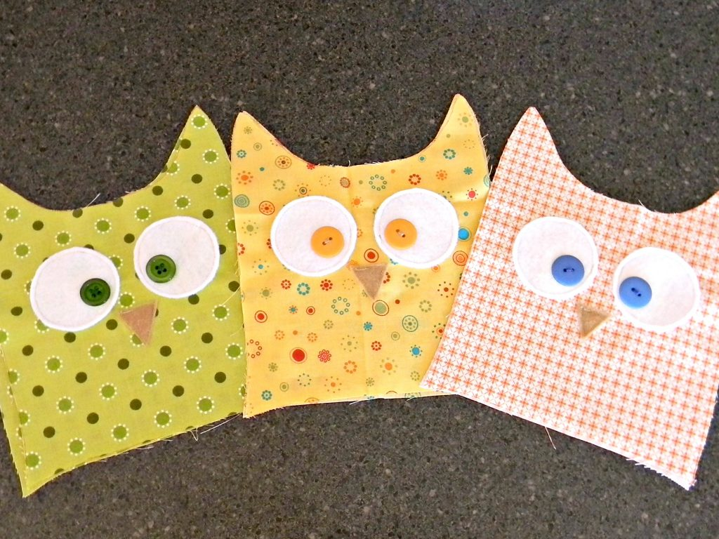 Owl Softies faces