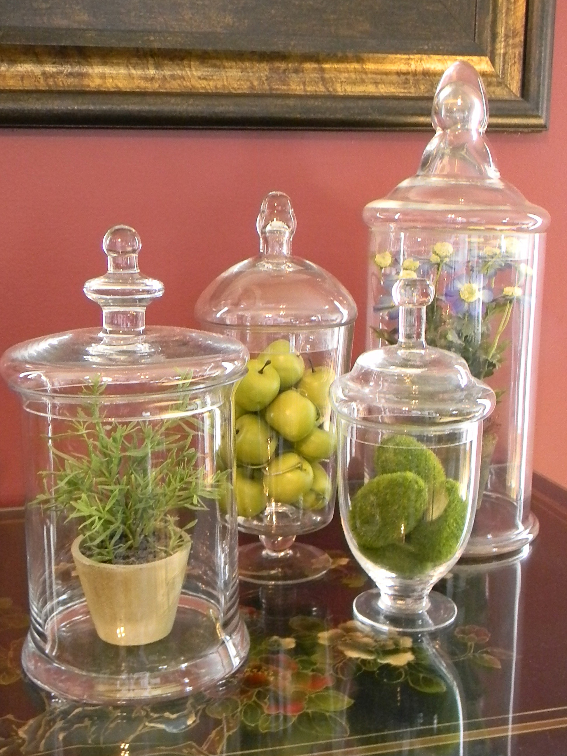 Touches of spring organize and decorate everything - Decorative fruit jars ...
