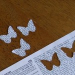 Dictionary Pages Butterflies