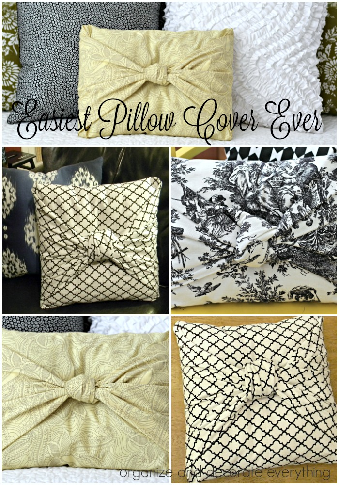 Easiest No Sew Pillow Cover Ever