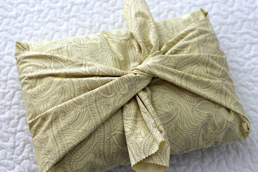 Easiest Pillow Cover tie in center