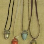 Painted Acorn Necklaces