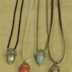 Painted Acorn Necklaces