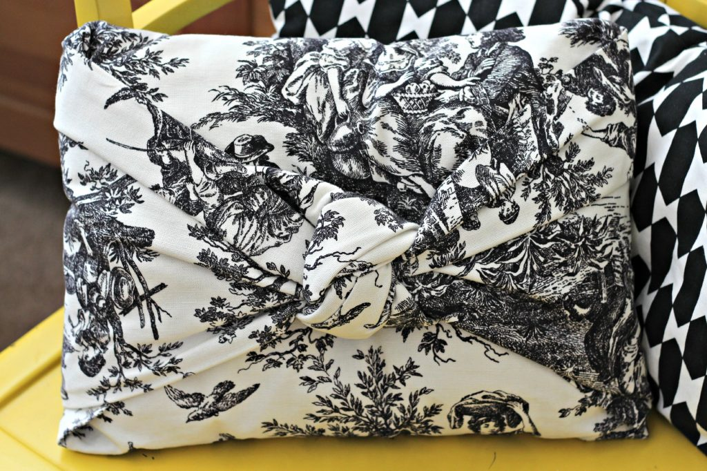 Easiest no sew pillow cover bedroom pillow