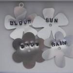 Framed Stamped Flowers
