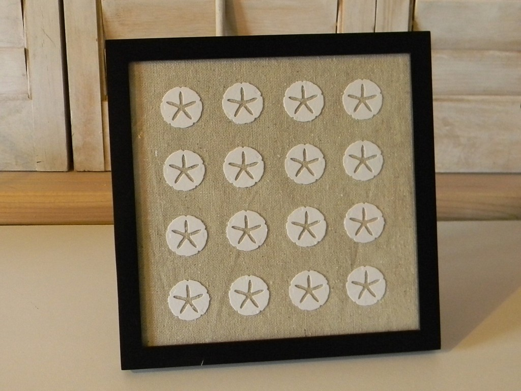 Framed sand dollar wall art organize and decorate everything for Vita craft factory outlet
