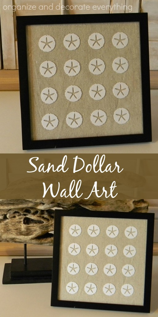 Sand Dollar Wall Art using sand dollar paper punch