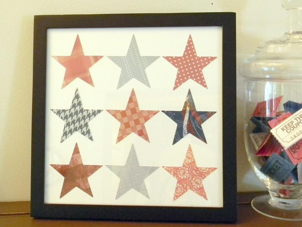 4th of July Patriotic Star Art