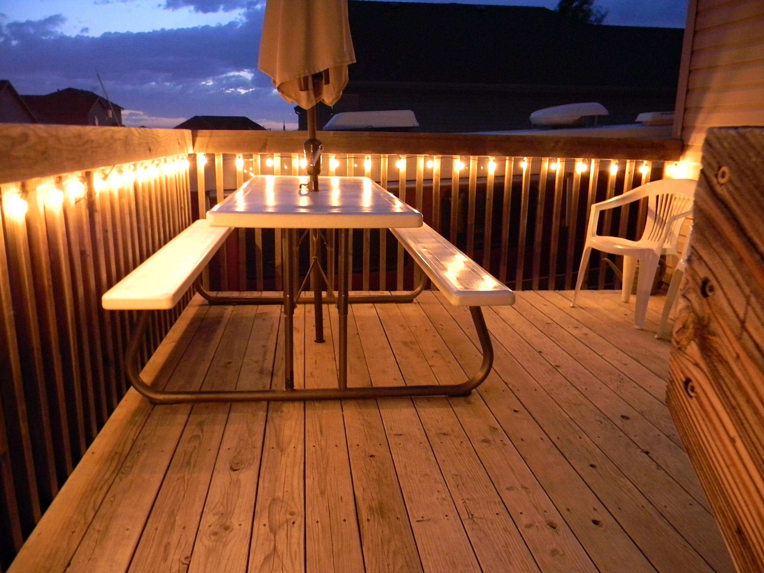 Quick tip 5 lighting the deck organize and decorate for Balcony lighting ideas