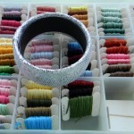 Embroidery Floss Wrapped Bracelet