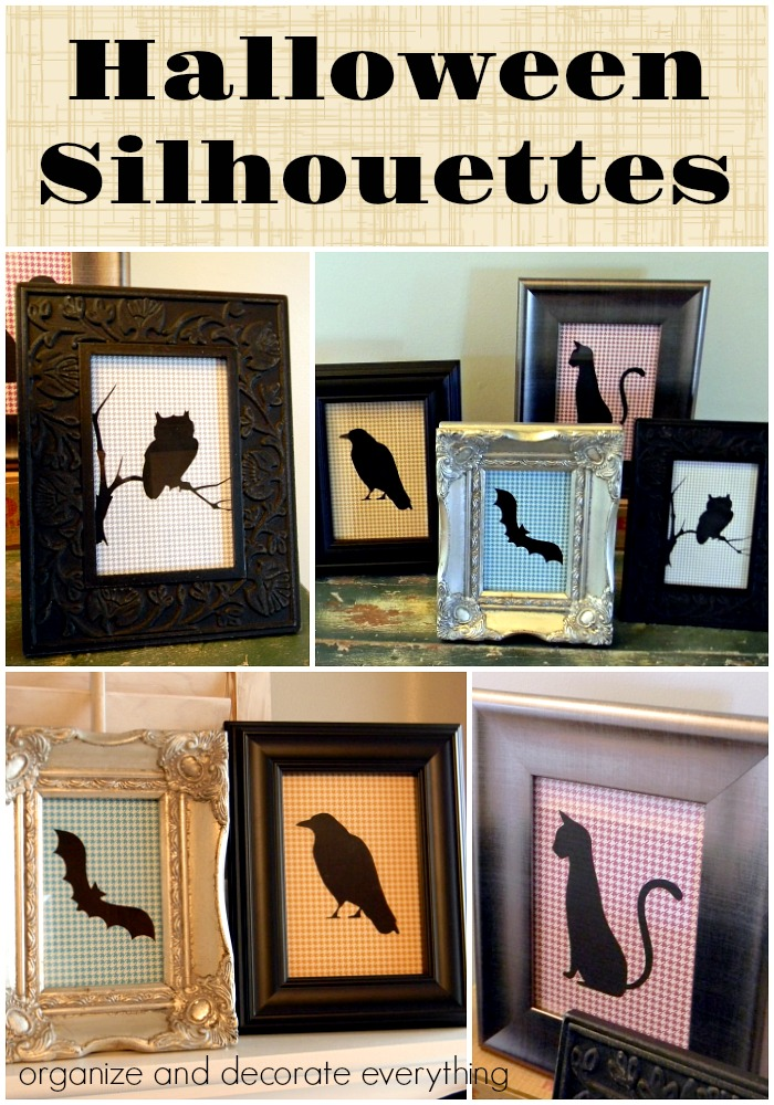 DIY Halloween Silhouettes without a personal cutting machine