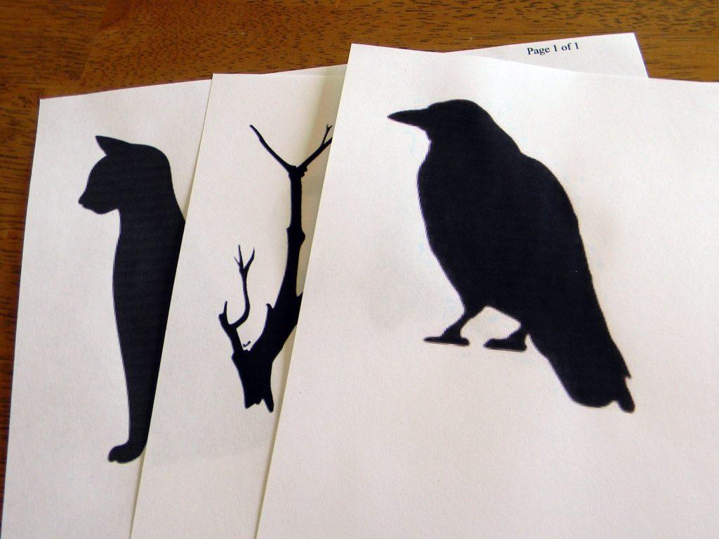 4 Halloween silhouettes