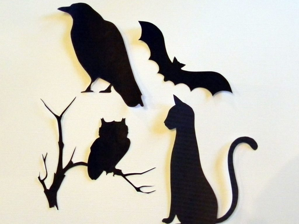 Cut out Halloween Silhouettes