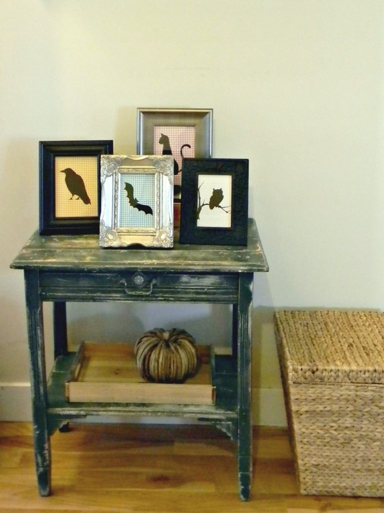 Halloween Silhouettes table