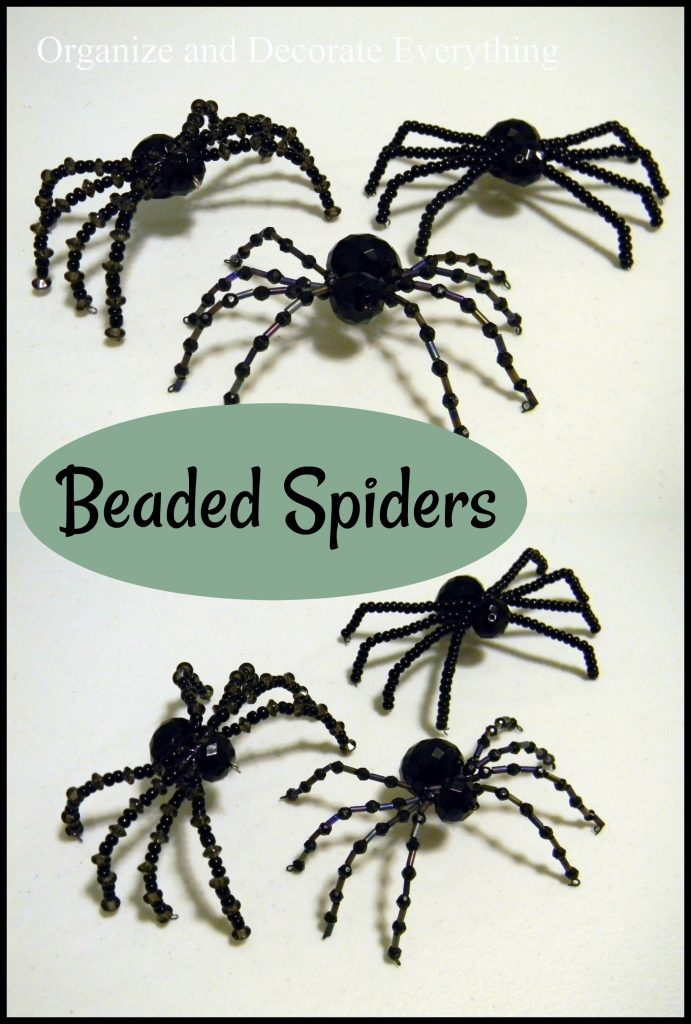 Beaded Spiders for Halloween