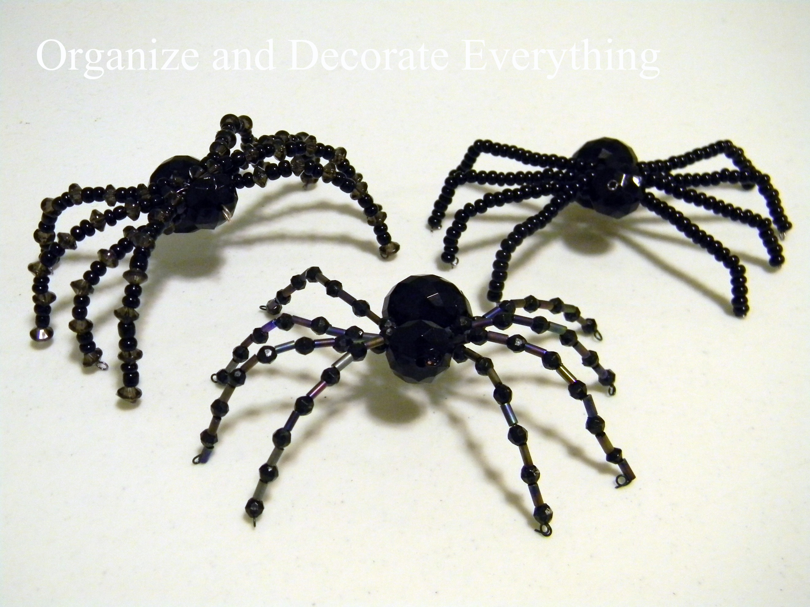 beaded spiders organize and decorate everything