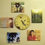 Canvas and Clock Wall