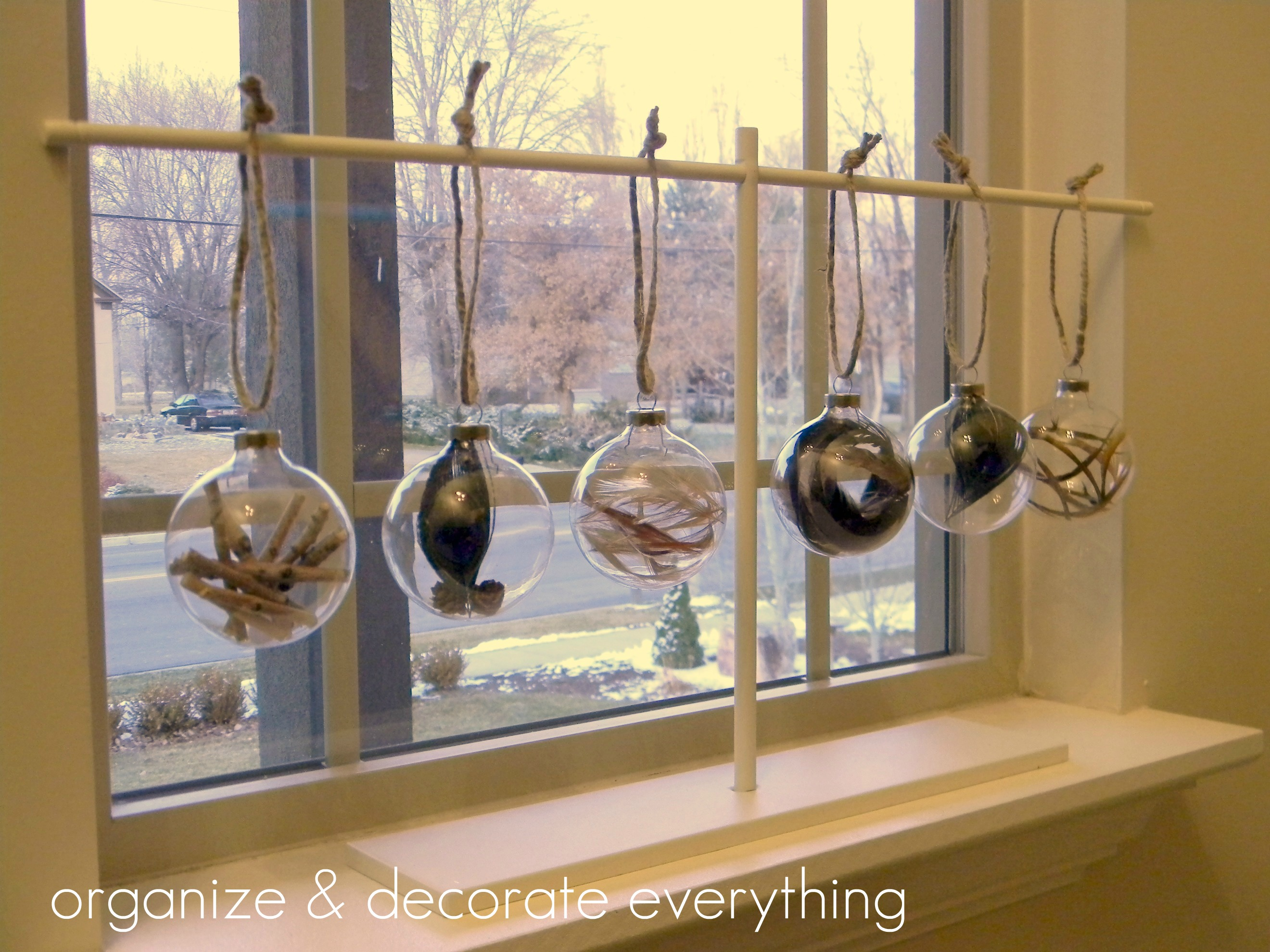 Classroom Ornament Ideas ~ Filled ornaments organize and decorate everything