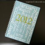 My 2012 Calendar/Planner
