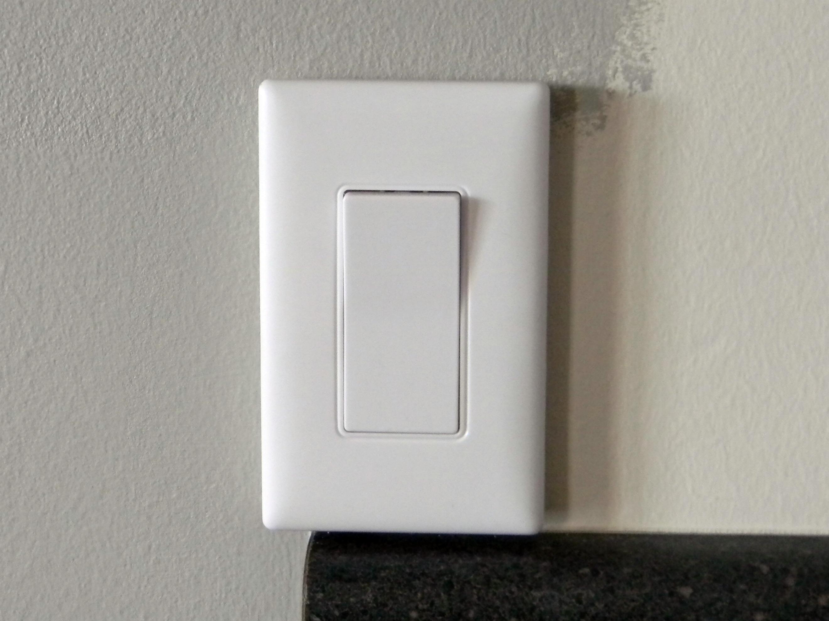 under cabinet light switch. Black Bedroom Furniture Sets. Home Design Ideas