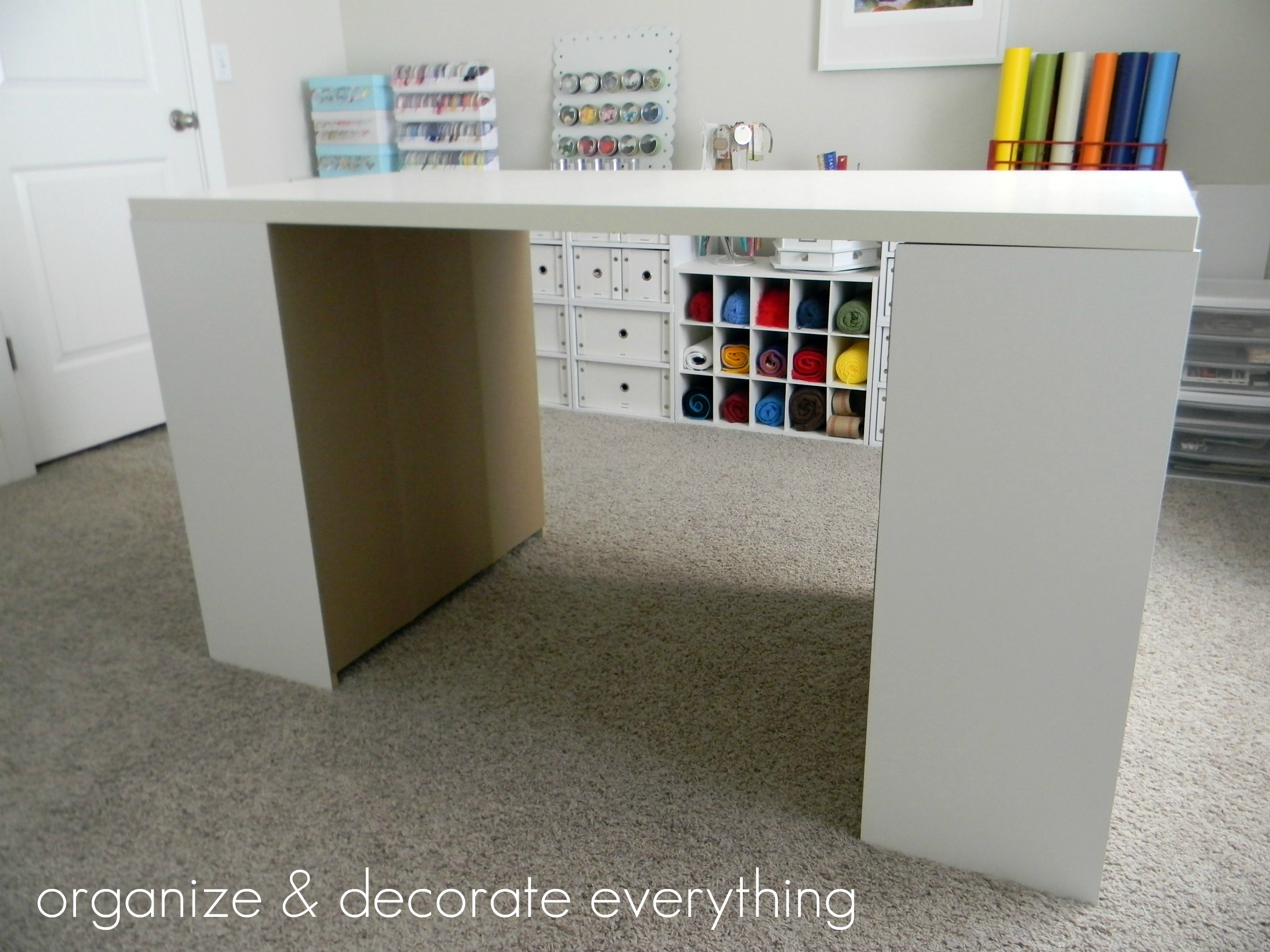 Make Your Own Diy Craft Table Using Inexpensive Pieces Organize And Decorate Everything