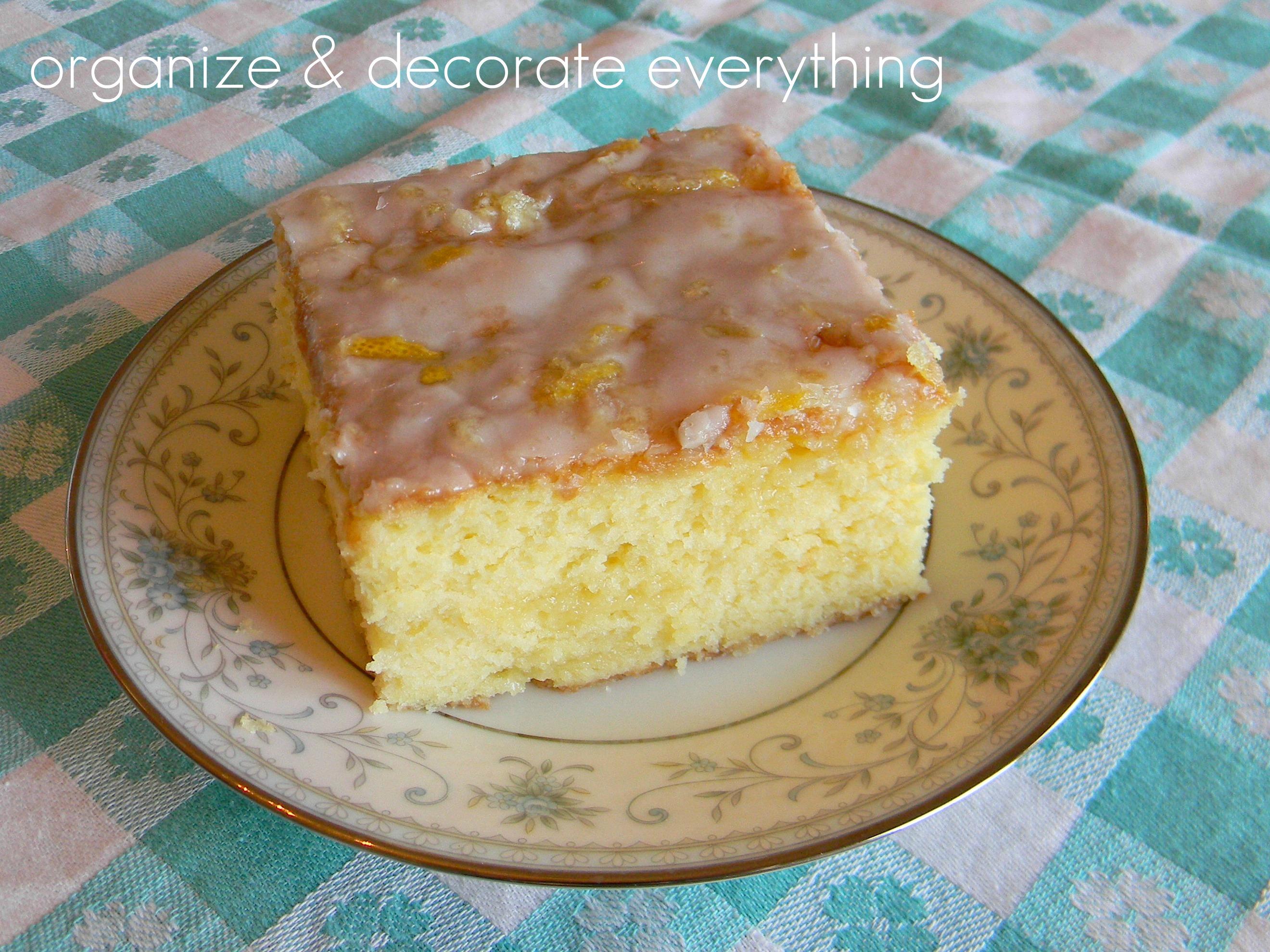 Lemon Glaze For Poke Cake