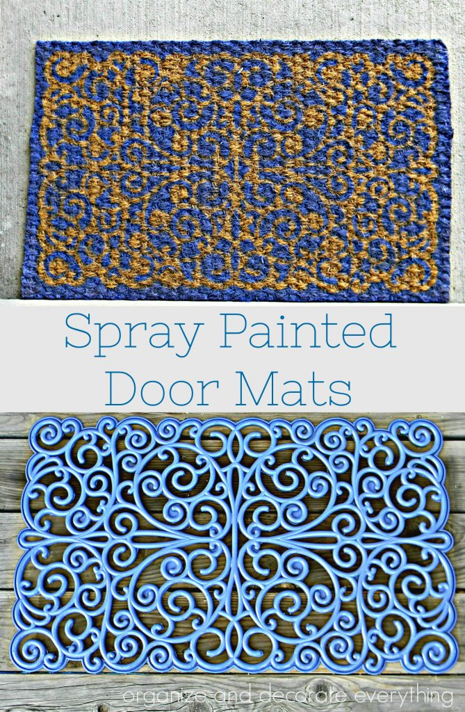 Spary Painted Door Mats times 2