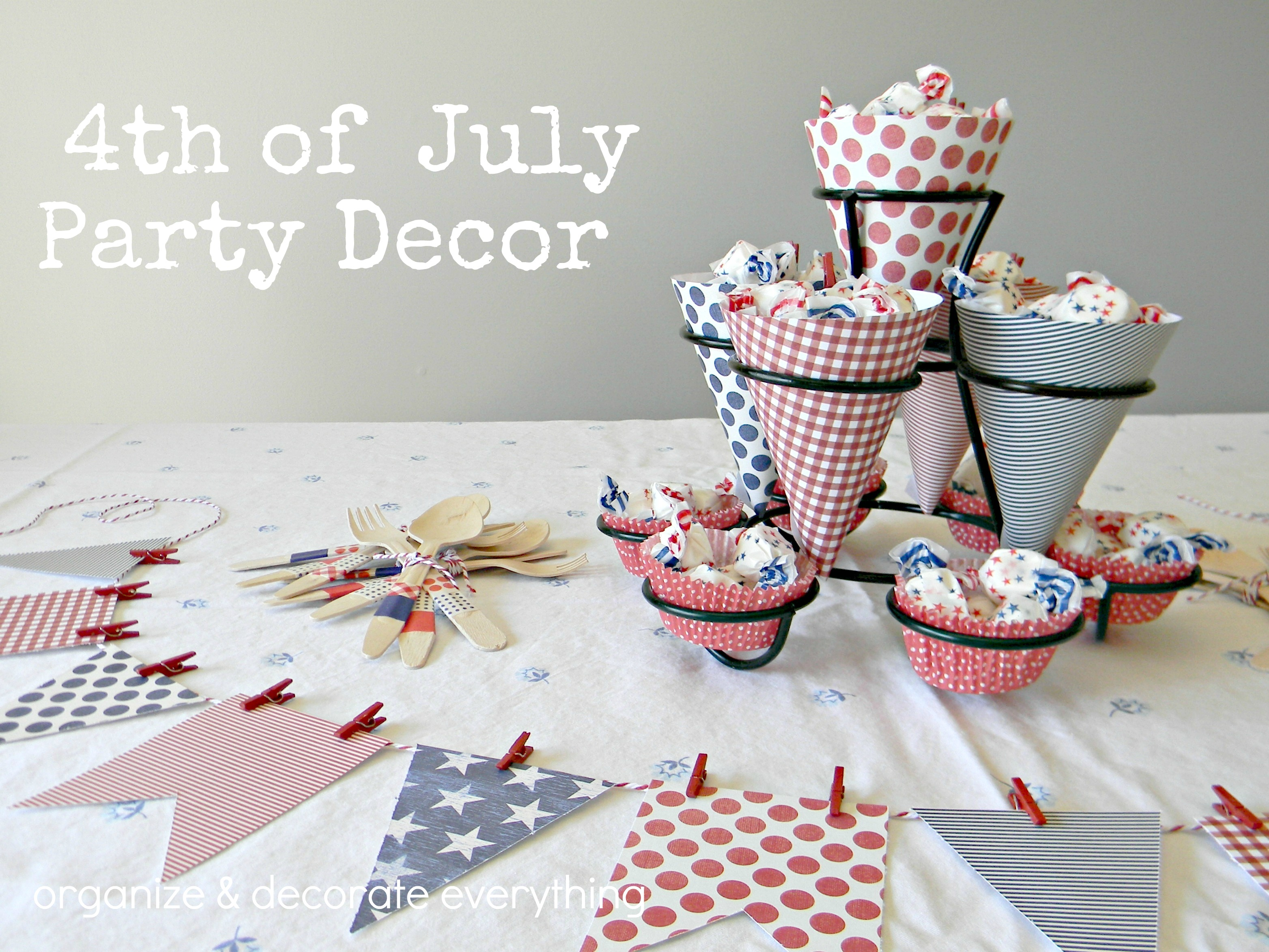 4th of july party decor organize and decorate everything for 4th of july party decoration