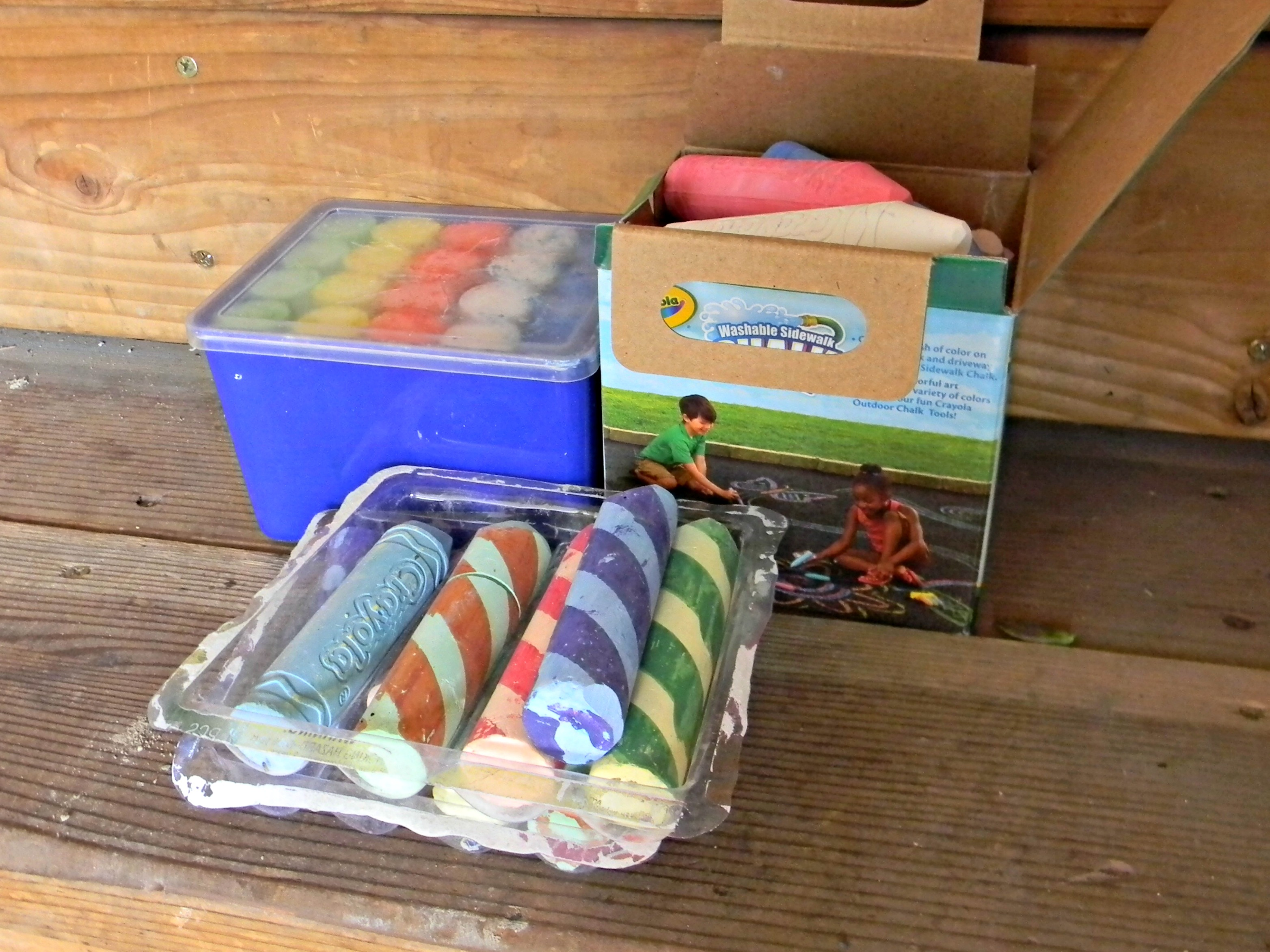 Quick Tip 17 Sidewalk Chalk Container Organize and Decorate