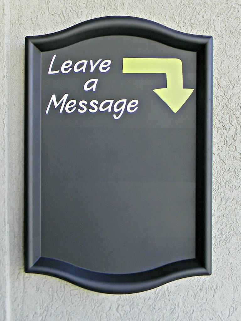 leave a message chalkboard