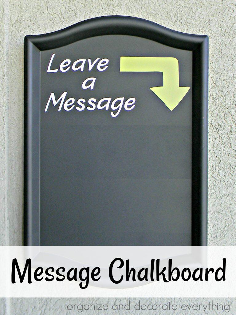 leave a message message chalkboard